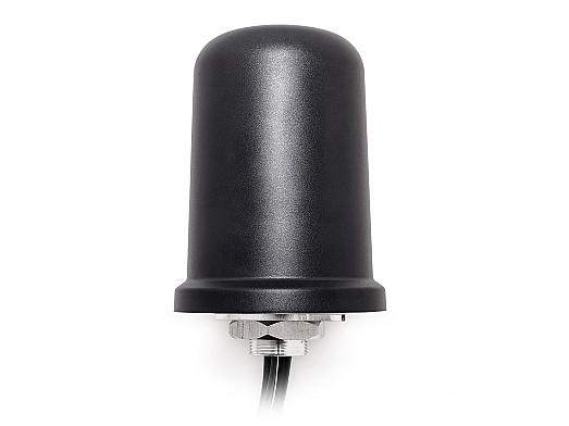 """The Medusa Series"""" 2x 5-in1 5GNR MIMO 2x 2.4/5.0/6.0 GHz WiFi 6E ISM and GPS GNSS Screw Mount by 2J Antennas"""