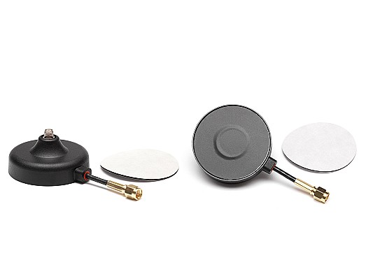 2JB02MPa - magnetic/adhesive mount antenna bracket with D302 cable and SMA F connector