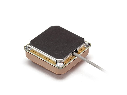 High Precision GNSS/GPS/SBAS/IRNSS/L1/L2/L5 active stacked patch antenna designed and manufactured by 2J Antennas