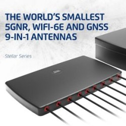 2J Antennas Launches The World's Smallest 5GNR, WiFi-6E and GNSS Combination 9-in-1 Antennas