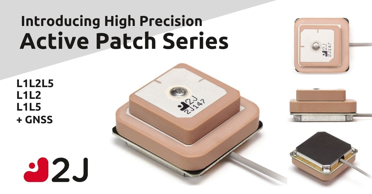 Introducing The Most Compact Tri-Band L1L2L5 Active Ceramic Patch On The Market